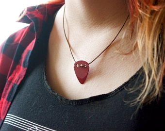Guitar Pick Necklace (Red)