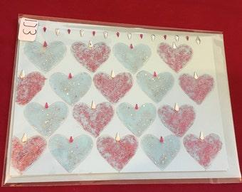 Hearts handmade card
