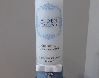 Personalised Candle for Baptisms, Christenings & Weddings