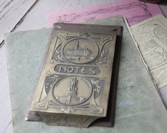 Art Nouveau German 1907 Notepad/ Art Nouveau Writing Pad/German 1900s Notepad/Vintage Notepad