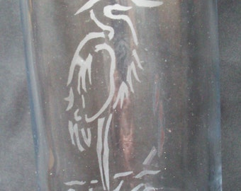 Tall Heron Glass