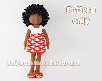 CROCHET PATTERN - Doll amigurumi Christy. PDF