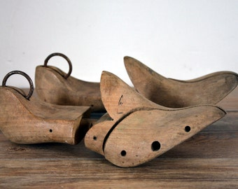 shoe size 37 in patinated wood, made in France