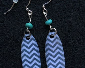 Chevron Patterned Earrings