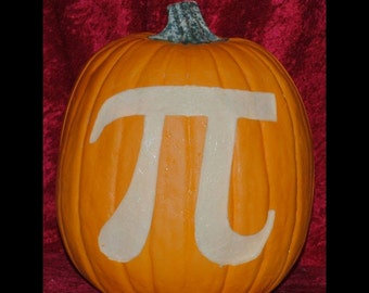 Pumpkin Pi - Hand Carved on a Foam Pumpkin - Plug in light with switch Included
