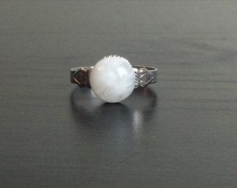 Moonstone Ring (3) - Adjustable