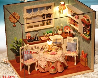 Cover and LED Dollhouse Dining Room DIY Kit