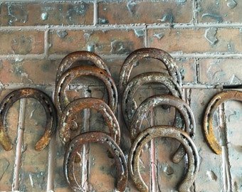30 Rustic, Vintage, Used Horseshoes-Lot of 30