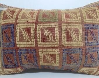 boho lumbar kilim pillow 16x24 handmade kilim rug embroidered pillow kelim kissen pillow cover Multicolour pillow Home Decor SP4060-257
