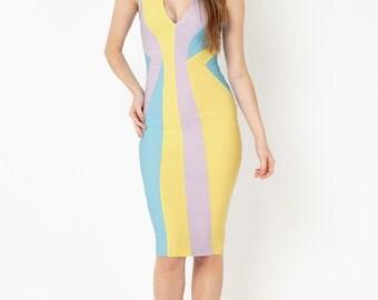 Ria Colour Block Dress