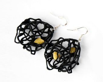 3D Printed Women Modern Amber Earrings