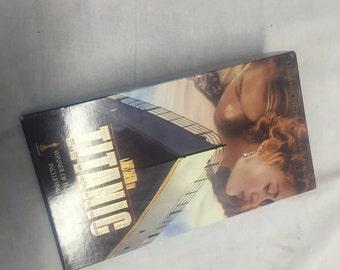 vintage Titanic VHS 2 part box set movie