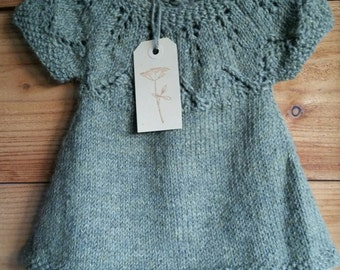 Knitted Baby dress 0-3 months
