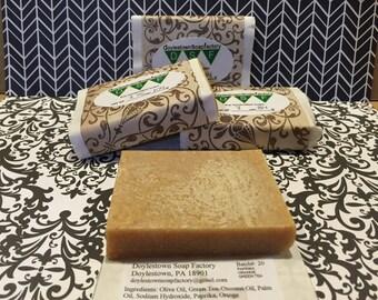 Green Tea Orange Paprika 2.75oz Cold Process Soap Bar
