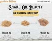 HALF OFF-Beauty Event SAMPLE Pack-3 Shades-for Gold Undertones- Tenacity Foundation Powder-Mineral Makeup