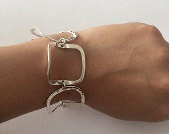 Square Bracelet Sterling Silver