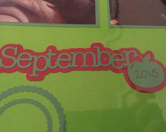 September Scrapbook Embellishment