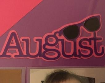 August Scrapbook Embellishment