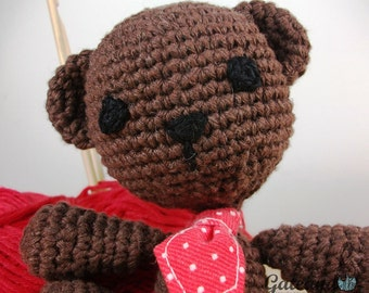Teddy Bear Amigurumi. Corchet doll. Stuffed.