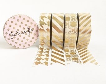 Light Gold Foil Washi Tape Collection