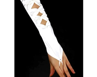 Bridal fingerless gloves Wedding gloves Elbow gloves Bridal White Satin Gloves Pearl gloves Bridal fingerless satin gloves Wedding Gloves