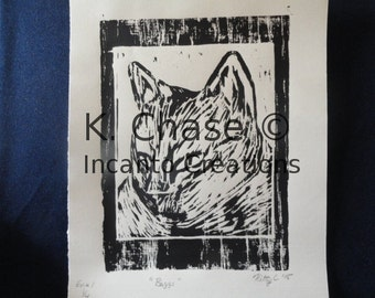 "Hand Pulled, ""Baggs"" Print, First Edition"