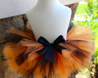 Halloween Tutu, Orange and Black Tutu, Baby Halloween Tutu, Toddler Halloween Tutu, First Halloween Costume, Girl Halloween Tutu