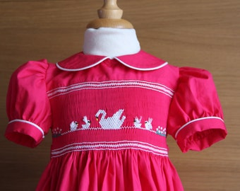 Hand made dress smocked T 2 years