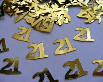 Numbers Table Confetti - 18, 21, 25, 30,.40, 50, 60 Birthdays etc. x 3 Packs