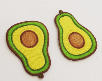 Avocado Iron-On Patch, Fruit Sew-On Patch, Avocado Badge, DIY Embroidery, Embroidered Badge, Embroidered Applique, Pop Culture Gift