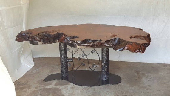 Dining Table, Office Desk, Redwood, Burl Dining Table, Live Edge Table, Custom Metal, Bar Table, Wine Bar, Live Edge Desk