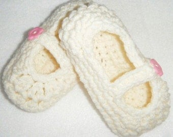 Crocheted Mary Janes