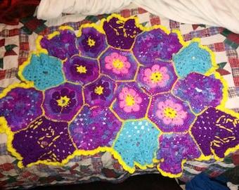 melody hexagon baby blanket