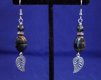 Blue Tigereye earrings