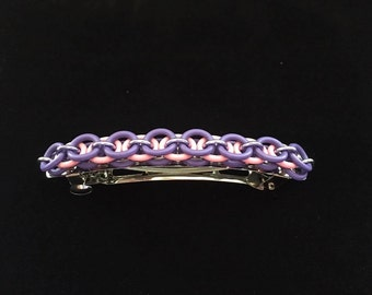 Chainmaille Helm Weave Barrette