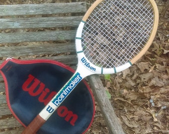 Vintage wilsonTennis Racquet with case