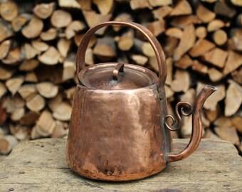 Tin Copper teapot maker handmade