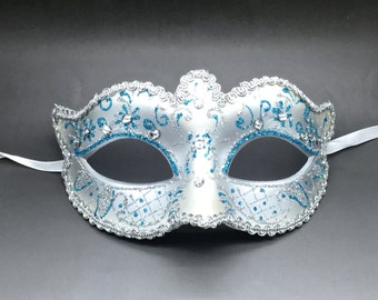 Women Venetian Carnival Prom Ball Masquerade Mask With Rhinestones
