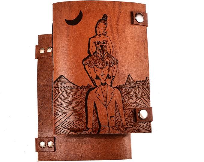journal - blank journal - handmade journal - leather notebook - art sketchbook - notebook journal