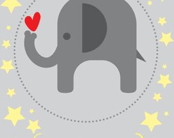 Baby Elephant Welcoming Invite