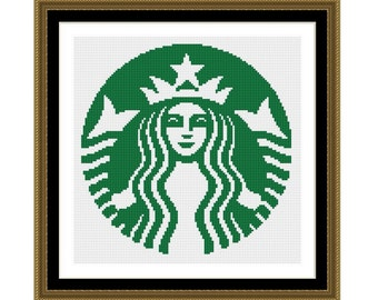 Cross stitch pattern Starbucks Logo,Instant download PDF