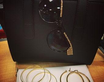 18k Gold Filled Hoop earrings in MEDIUM