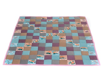 Childrens quilted patchwork throw/playmat