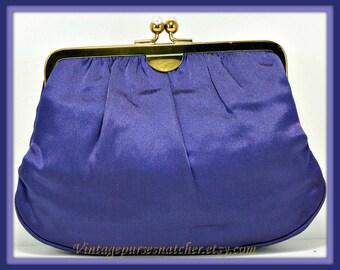 Vintage Evening Clutch,Vintage Satin Morris Moskowitz Evening Clutch,Vintage Morris Moskowitz Evening Bag,Vintage Evening Bag,Wedding Clutch