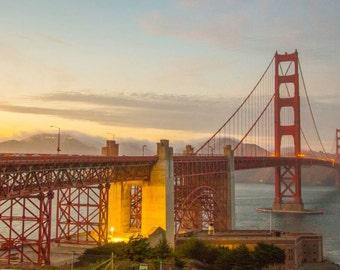 San Francisco Golden Gate Bridge Dusk 2