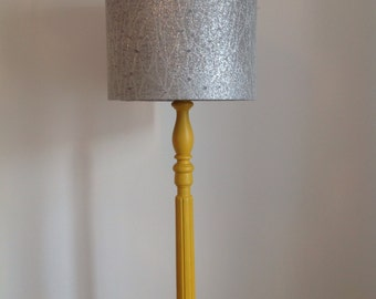 Silver fabric lampshade