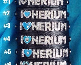 Nerium Rhinestone Slide Charm Bracelet/Jewelry