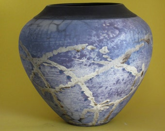 Naked Raku open vase