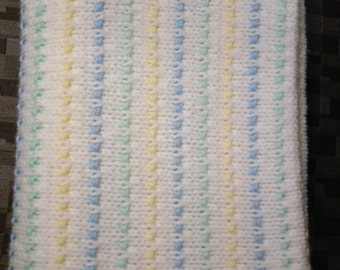 Knit Baby Afghan, Baby Dots Baby Afghan