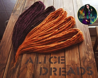 Full set of crochet synthetic double ended DE dreads burgundy dreads red dreadlocks handmade